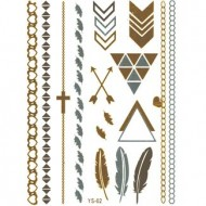 Flash Metallic Tattoos No. 9