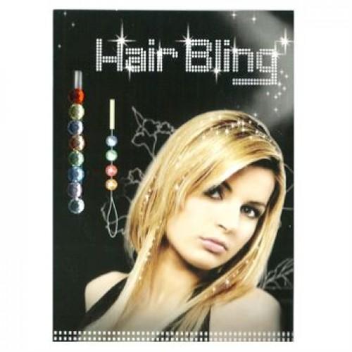 Hair Bling - 8 farvede  krystaldiamanter