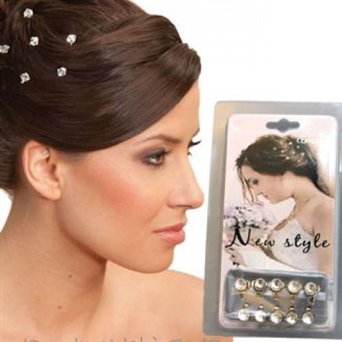 Hair Bling - Diamanter til håret (10 stk)