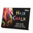 Hair Chalk pakke m 24 stk hårkridt / farvekridt til håret