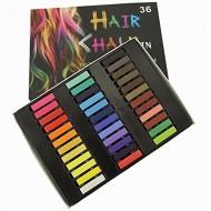 Hair Chalk® pakke m 36 stk hårkridt / farvekridt til håret
