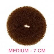 Hair Donut - Brun - 7 cm