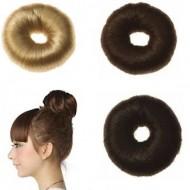 Hair Donut med kunstigt hår, 7 cm