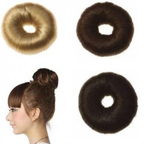 Hair Donut med kunstigt hår, 4 cm