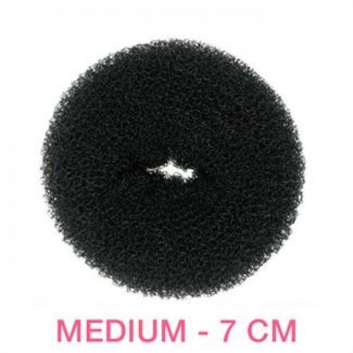 Hair Donut - Sort - 7 cm