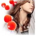 Hair Sponge curler balls hair macarons 6 stk rød - skumcurler