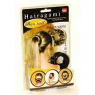 Hairagami (sort + leopard) 2 stk