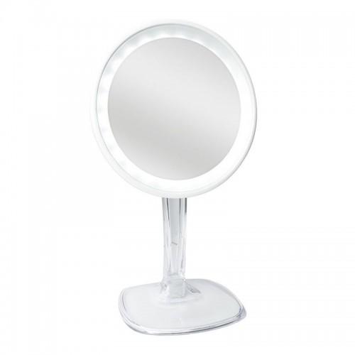 Halo genopladelig LED spejl med 10x forstørrelse - Hvid