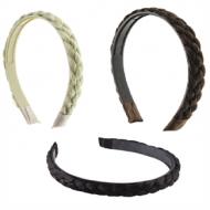 Hårbøjle med flettet hår - vælg mellem –flere farver
