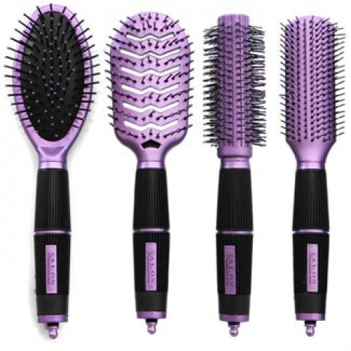 Hårbørster Purple Edition Salon professional 4 stk