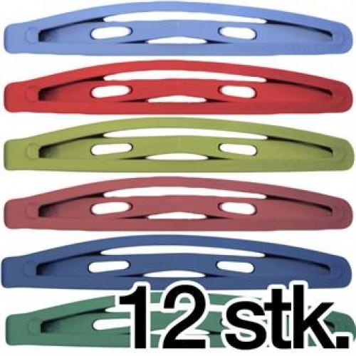 Hårspænder i forskellige Farver - 12 stk