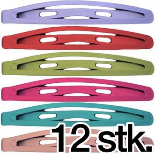Hårspænder i Pastel farver - 12 stk