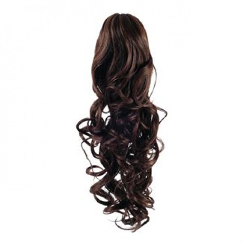 Hestehale Extensions - Curly Brun 4#