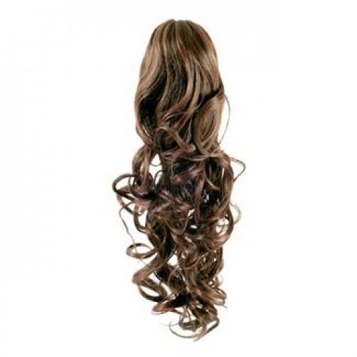 Hestehale Extensions - Curly Lysebrun 6#