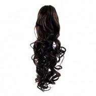 Hestehale Extensions - Curly Mørkebrun 2#