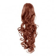 Hestehale Extensions –Curly rød 33#