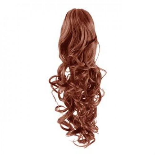 Hestehale Extensions - Curly rød 33#