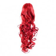 Hestehale Extensions - Curly Total red