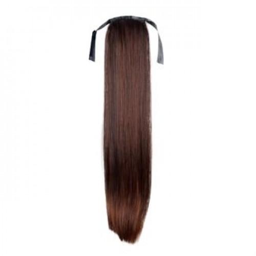 Hestehale Extensions - Straight brun 4#