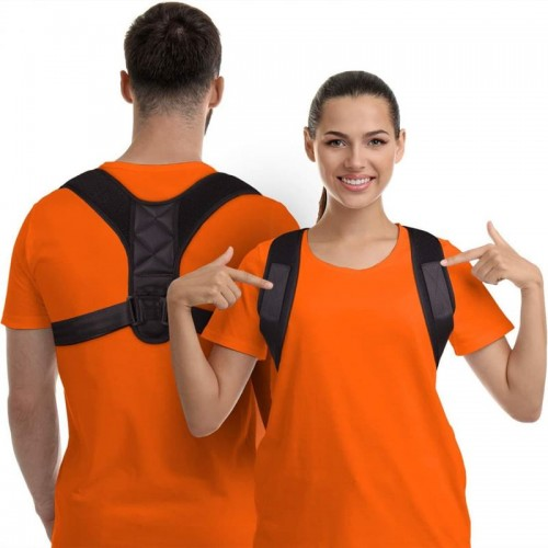 Holdningskorrigerende vest til støtte af ryg og skuldre - Posture 2.0, Sort.