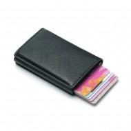 iSafe kortholder læderpung med popup & RFID beskyttelse - Sort