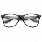 Klassiske Wayfarer briller med klart glas