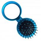 Kompakt makeup spejl med børste - blå