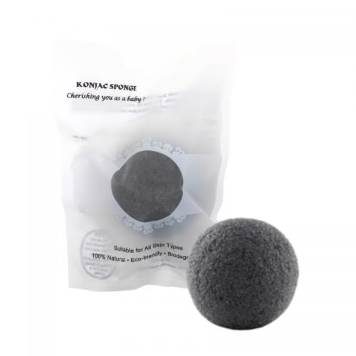 Konjac Sponge / Svamp (til ansigt) - Charcoal