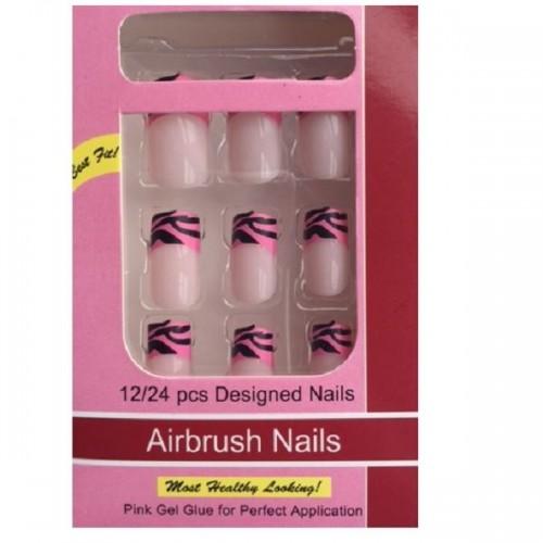 Kunstige Negle - Pink Delicius No 12 - Uden Lim
