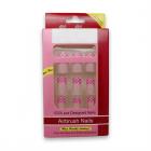 Kunstige Negle Spiders Web No 28 - Pink'n White