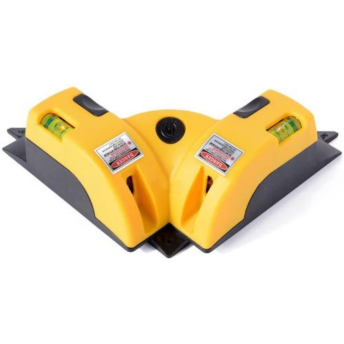 Laser Afstandsmåler med 2 laser - 90 graders vinkel til fliser, mursten, trægulve
