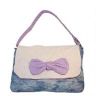 LaZo håndtaske - Butterfly Purple