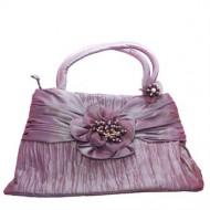 Lazo Håndtaske –Satin Flower pearl Brown