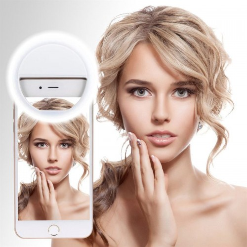 Selfie LED light ring til smartphones