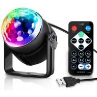 LED Party Lys / RGB Diskokugle