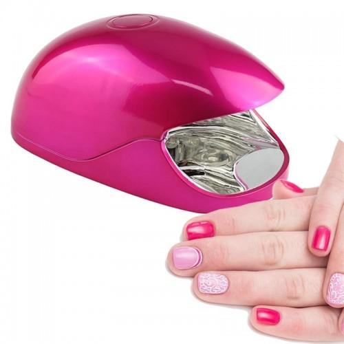 LED UV Lampe til negle med usb strømforsyning, Strawberry Pink Mini