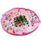 Legetæppe & Opbevaringspose til Lego og Legetøj - Pink