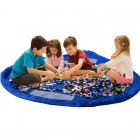 Legetæppe & Opbevaringspose til Lego og Legetøj - Blå