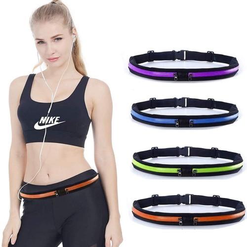 Løbebælte / Bæltetaske til løb / fitness - Sort / Neon grøn