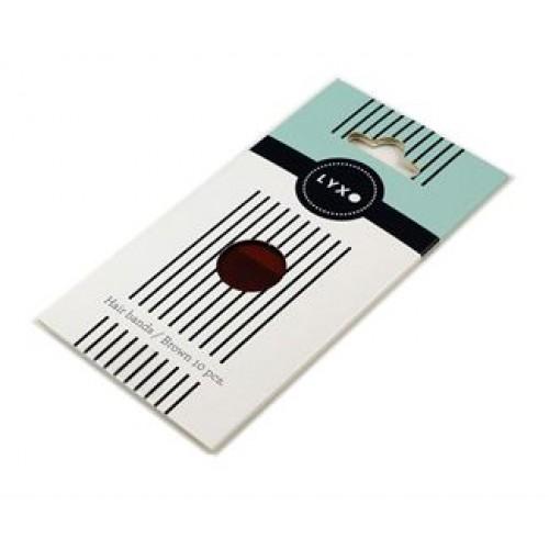 LYXO Sport hårelastikker Color Box Brune 10 stk