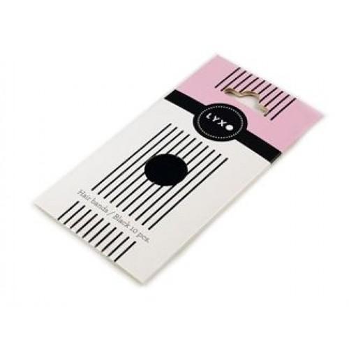LYXO Sport hårelastikker Color Box Sorte 10 stk