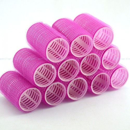 Magic velcro curlers pink 10 stk