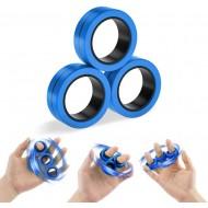 Magnetiske Fidget Ringe til afstresning - Blå