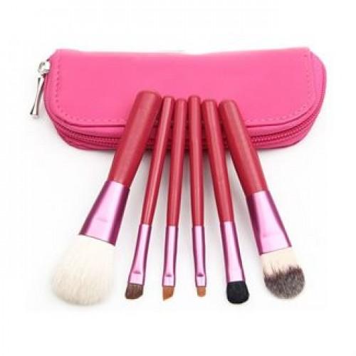 Makeup Børster - 6 dele i rød
