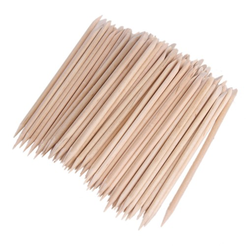 Manicure Pinde i Birketræ 100 stk