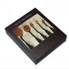 Mermaid® Ovalbørster til makeup  - 5 sæt