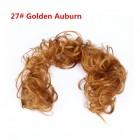 Messy Hår Extension til knold - #27 Gylden rødbrun