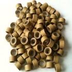 Microringe med silikone til extensions - Blond 100 stk