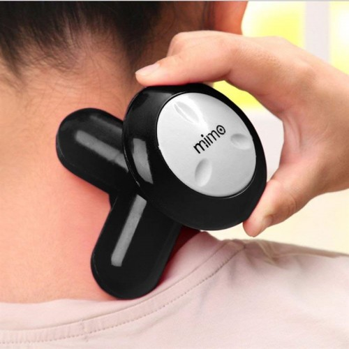 Mini Massage Apparat m. USB, Sort.