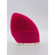 Mini Silicone Facial Cleansing Brush Ansigtsbørste - Rosa/Rød